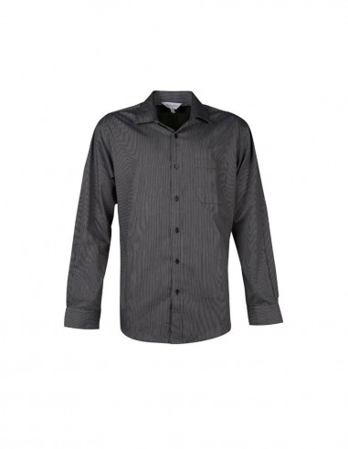 AU-1900L - Mens Henley Striped Long Sleeve Shirt - Aussie Pacific