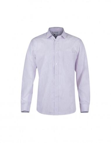 AU-1906L - Mens Bayview Wide Stripe Long Sleeve Shirt - Aussie Pacific