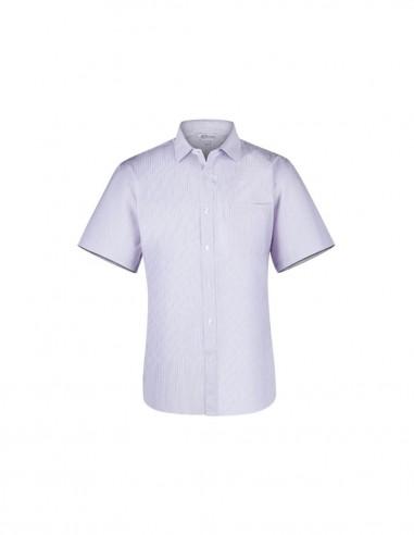 AU-1906S - Mens Bayview Wide Stripe Short Sleeve Shirt - Aussie Pacific