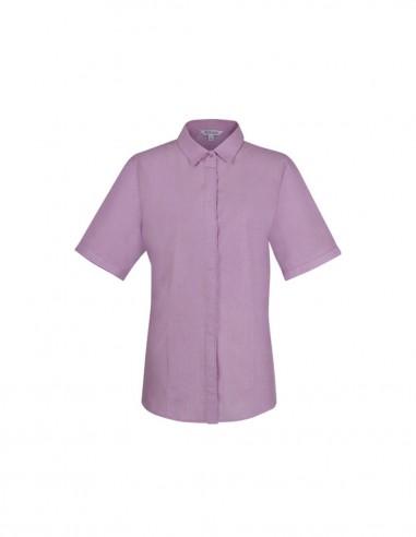 AU-2902S - Ladies Grange Check Short Sleeve Shirt - Aussie Pacific