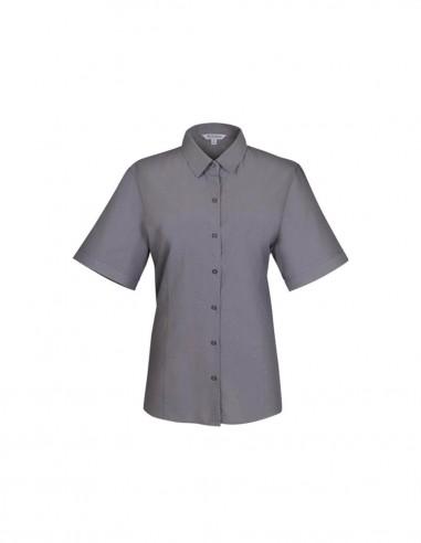 AU-2905S - Ladies Belair Stripe Short Sleeve Shirt - Aussie Pacific