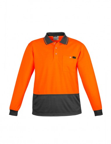 SY-ZH410 - Mens Comfort Back L/S Polo - Syzmik