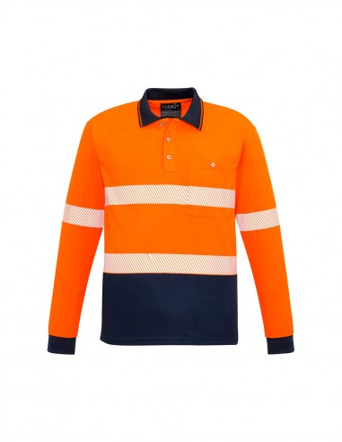 SY-ZH530 - Unisex Hi Vis Segmented L/S Polo - Hoop Taped - Syzmik