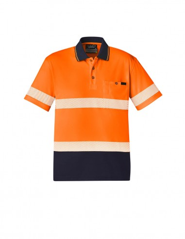 SY-ZH535 - Unisex Hi Vis Segmented S/S Polo - Hoop Taped - Syzmik