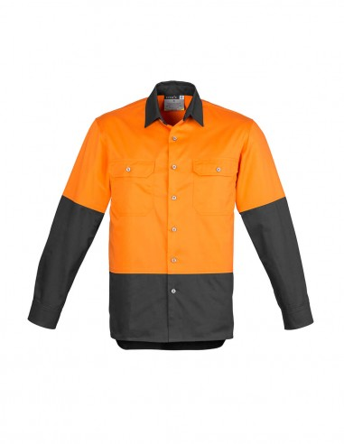 SY-ZW122 - Mens Hi Vis Spliced Industrial L/S Shirt - Syzmik