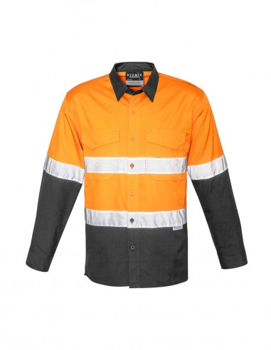 SY-ZW129 - Mens Rugged Cooling Taped Hi Vis Spliced L/S Shirt - Syzmik