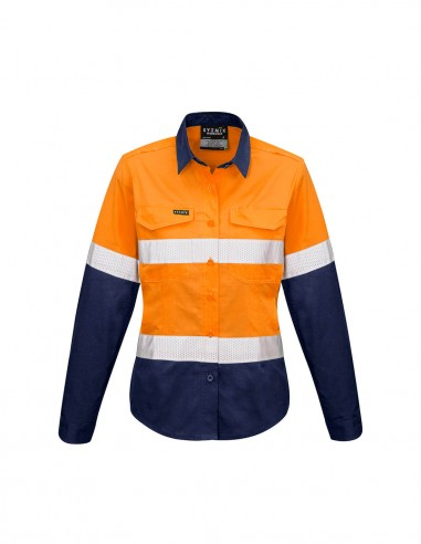 SY-ZW720 - Womens Rugged Cooling Taped Hi Vis Spliced L/S Shirt - Syzmik