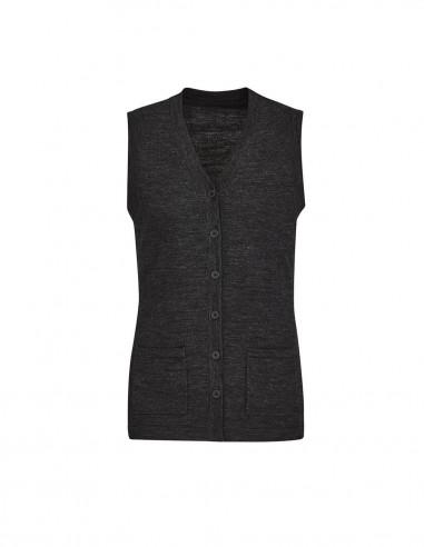 BCA-CK961LV - Womens Button Front Knit Vest - Biz Care