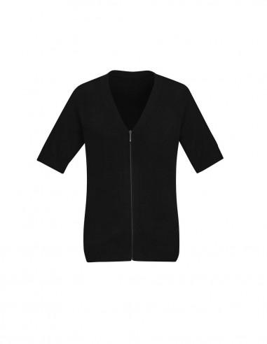 BCA-CK962LC - Womens Zip Front Short Sleeve Knit - Biz Care