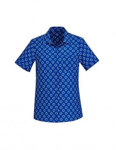 BCA-CS948LS - Womens Florence Daisy Print Short Sleeve Shirt - Biz Care