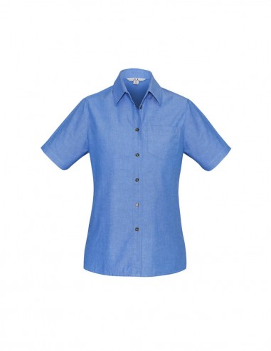 BC-LB6200 - Wrinkle Free Chambray Ladies S/S Shirt - Biz Collection