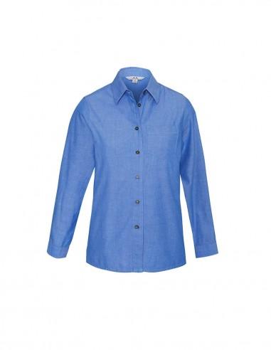 BC-LB6201 - Wrinkle Free Chambray Ladies L/S Shirt - Biz Collection