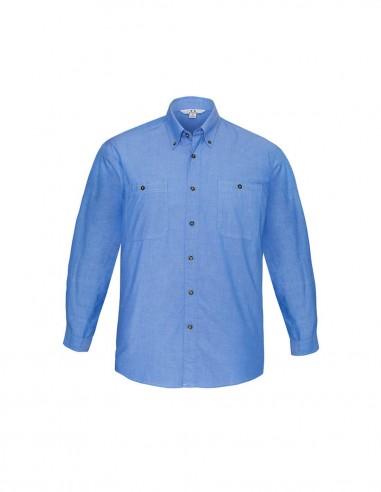 BC-SH112 - Wrinkle Free Chambray Mens L/S Shirt - Biz Collection
