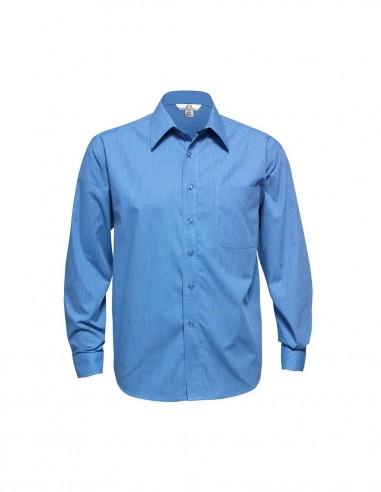 BC-SH816 - Micro Check Mens L/S Shirt - Biz Collection