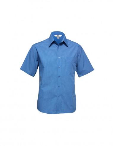 BC-SH817 - Micro Check Mens S/S Shirt - Biz Collection