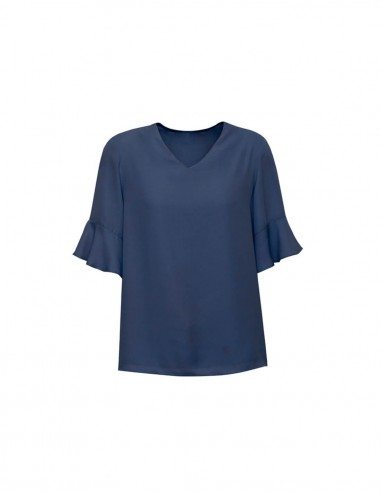 BCO-RB966LS - Womens Aria Fluted Sleeve Blouse - Biz Corporates
