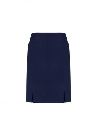 BCO-20720 - Womens Front Pleat Detail Straight Skirt - Biz Corporates